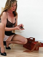 sheer panty milf mends nylons