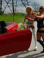 Becs and her lesbian girlfriend spend the day outside being slutty, and warming up for some dogging action in the evening