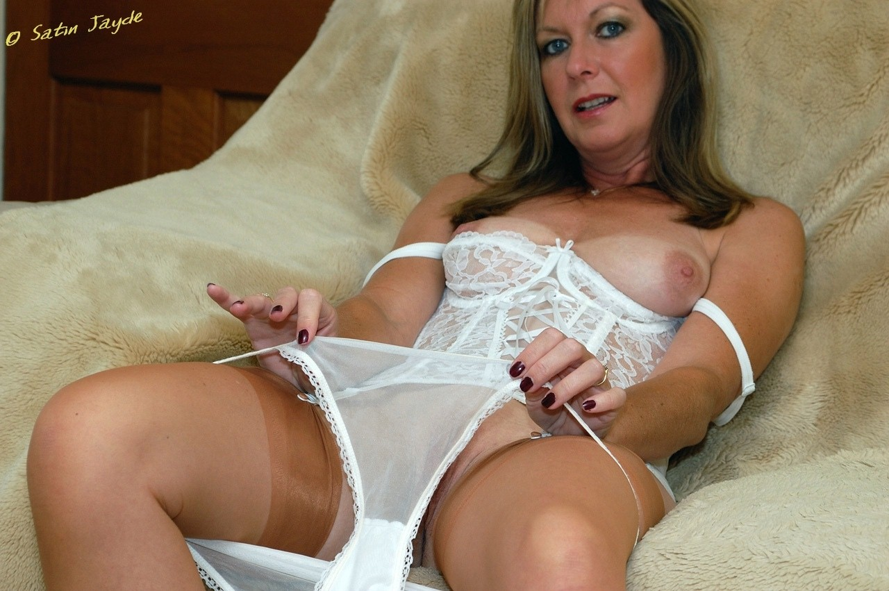 Apologise, milf lingerie satin for that